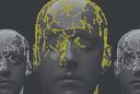 Illustration of face w/ data nodes