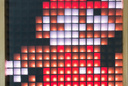 student project - 16x16 LED cube showing classic Mario jumping