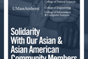 Solidarity With Our Asian & Asian American Community Members