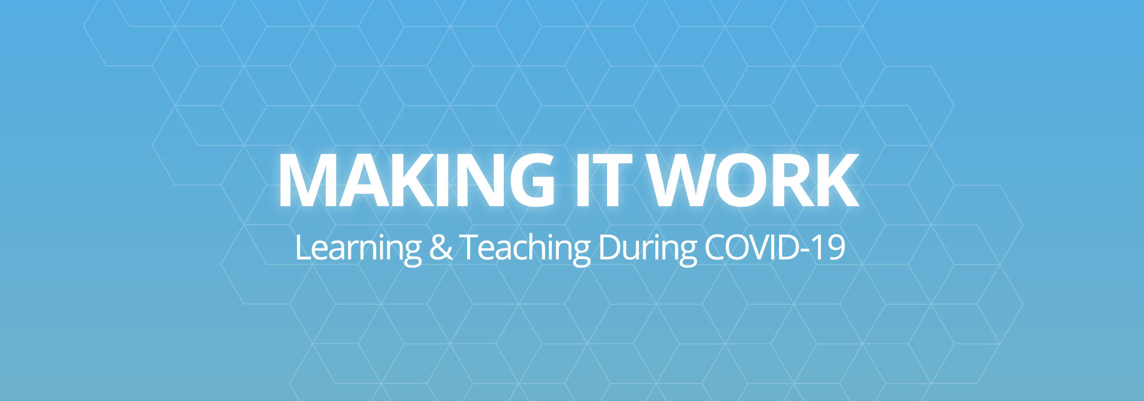 Making It Work - Learning & Teaching During COVID-19
