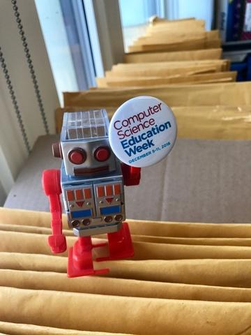 CS Ed Week Robot with Pin