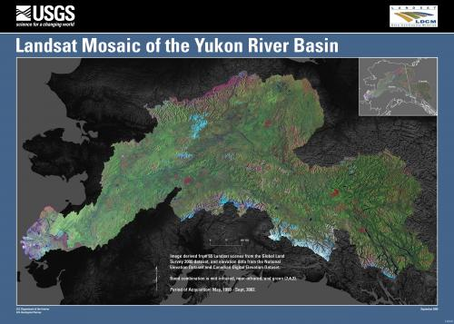 USGS Data Layered Map of the Yukon River Basin